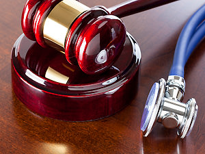 Gavel and stethiscope